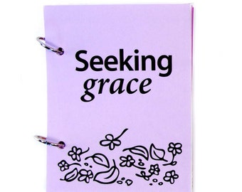 Christian Prayer Journal, Catholic Prayer Journal, Religious Prayer Journal - Seeking God's Grace in lavender fields
