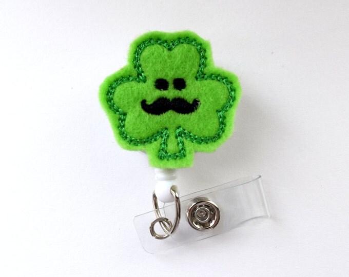 Sammy the Shamrock - Cute Badge Holder - Nurses Badge Holder - Felt Badge - Nursing Badge Holder - Teacher Badge Reel - St. Patricks Day
