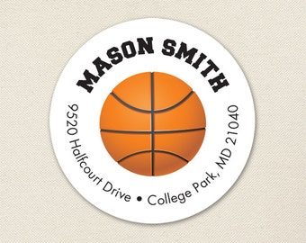 Basketball Address Labels - Sheet of 24
