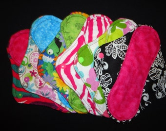 Set of three 3 custom cloth pantyliners