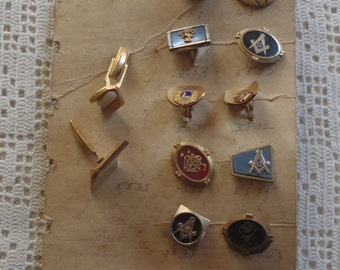 Vintage Cuff Links Salesman's Samples Some Fraternal A. Corbi by Acco
