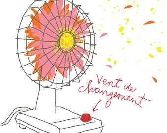 Carococo /  wind of change / by Carol-Anne Pedneault / artprint 12x18