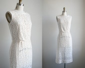 60s Lace Wiggle Dress - Cream Lace Dress