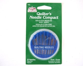 NIB Quilter's Needle Compact, 30 Gold Eye Needles