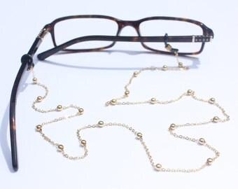 Ball & Chain Glasses Holder    Gold