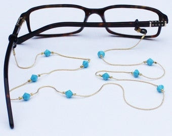Glasses Chain || Turquoise