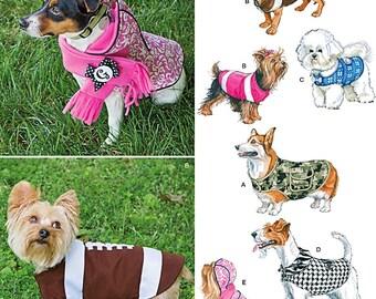 Football Dog Coat Pattern, Dog Coats Pattern, Simplicity Sewing Pattern 1239