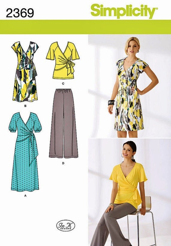 Stretch Knit Sewing Patterns : Stretch Knits Dress Pattern Tunic Top Pattern Pull-on by blue510
