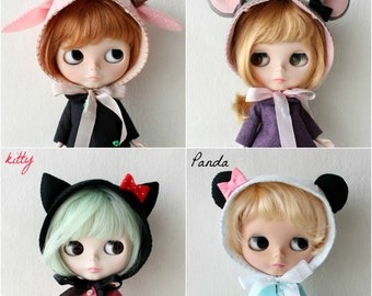 Blythe Doll Animal Bonnet pdf Pattern
