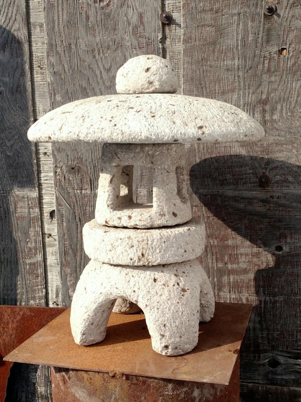 Premium Hypertufa Japanese Lantern Pagoda Stone Lantern
