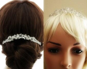 Crystal Bridal Hair Comb, Rose Gold Hair Comb Bridal Hair Jewelry Gold Wedding Hair Comb Bridal Tiara