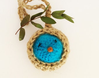 Fluffy Bluebird in his nest