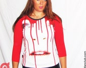 Large ladies Candy Dripp baseball shirt BD033