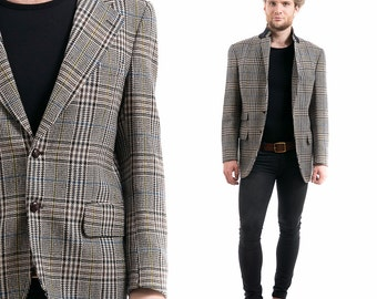 Mens Checkered Blazer | Fashion Ql