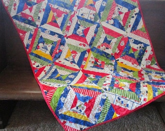 Snowman Lap Baby Quilt Winter String Table Wall Lap