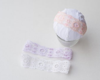 3 colors NEWBORN lace halo heaband photo prop rEaDy To ShIP
