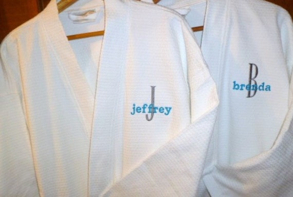 2 personalized robes custom couples spa gift mr and mrs gift