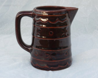 MarCrest Daisy Dot Small Pitcher or Jug, 4 inches tall, Creamer, Syrup, or Rustic Vase