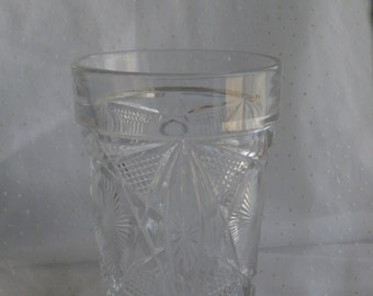 Clear Pressed Glass Pattern Tumbler