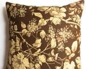 """Ralph Lauren 18"""" x 18"""" farmhouse brown and cream pillow covers, accent pillows, throw pillows, toss pillows - Set of two"""