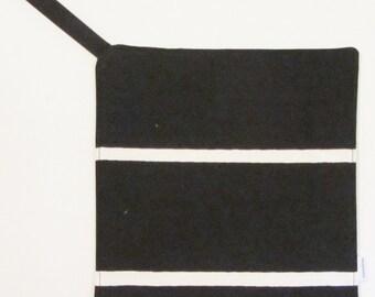B&W MARIMEKKO pot holder,  hostess/ house warming gift,  authentic fabric Tiiliskivi from Finland