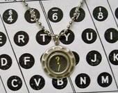 Typewriter  Key ? / Necklace  ~ Original  Question Mark with a Slash Royal Typewriter Key ~ Authentic 1920s Typewriter  Keys Used