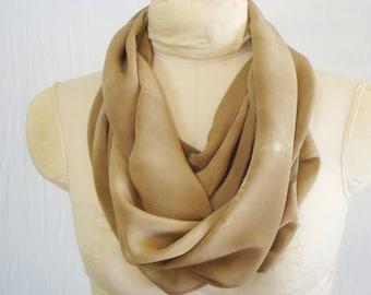 "Ecodye Silk Scarf - Eco Gift - Walnut Natural Dye - CDC111416 - 11""x56"" (27 x 142cm"