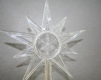 Hallmark Star Tree Topper Clear Acrylic Christmas 1970 S
