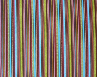 Happy Flappers Stripe in Brown by Riley Blake Designs - 1 Yard Cotton Fabric