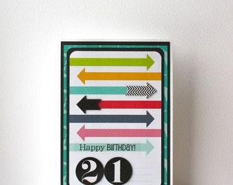 21st Birthday Handmade Card