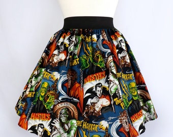 Custom Plus Size Skirt Your Measurements Monsters Fabric