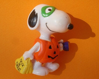 Snoopy, Peanuts, Halloween, Applause Toys, PVC Figure, Vintage, Mint, 1990