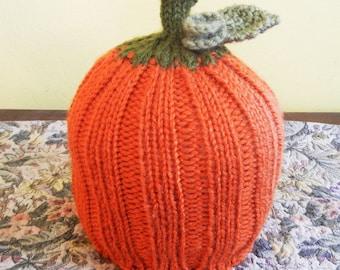 Knitted Pumkin Hat