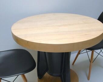 Dining Table Retro Repurposed Industrial Pedestal