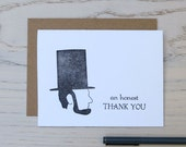 lincoln thank you letterpress card