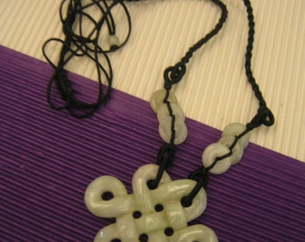 RUYI ... Natural Jade Pendant / Necklace ... Handknotting jewelry