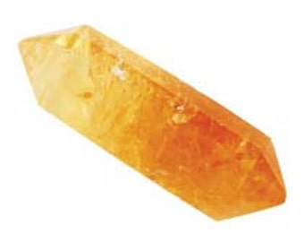"Double Terminated Citrine Point 1 1/2"", Energy work, New Age, Reiki"