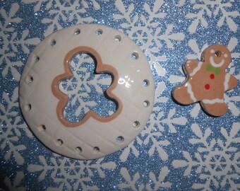 pine needle basket- gingerbread man