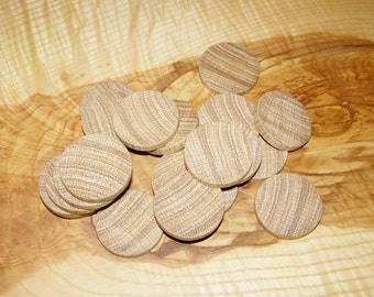 Tree Branch Circle Button , Oak Wood 20 slices