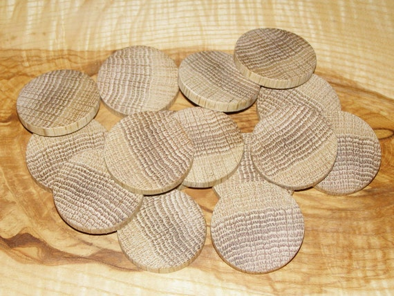 Oak Wood Branches ~ Tree branch circle button oak wood slices