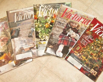 Victoria Magazine 1996 Five Issues Vintage Magazines Christmas Holiday Decorating Ideas