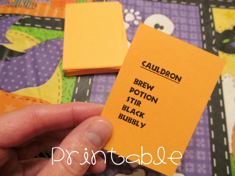 printable pdf halloween tabu spa party spiel f r kinder. Black Bedroom Furniture Sets. Home Design Ideas