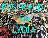 RESERVED VINTAGE Black Shawl hand embroidered