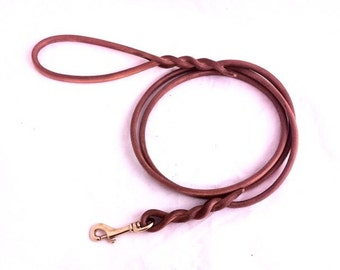 6 ft. Round Leather leash