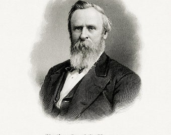 Bureau of Engraving and Printing reproduction Intaglio engraving 8 x 10 Rutherford B. Hayes