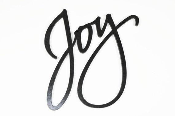 Word Art Wood 3D Cutout Joy by MRC Wood Products
