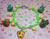 TMNT Teenage Mutant Ninja Turtle Charm  Bracelet