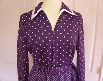Vintage 1960's/1970's Purple Maxi Dress
