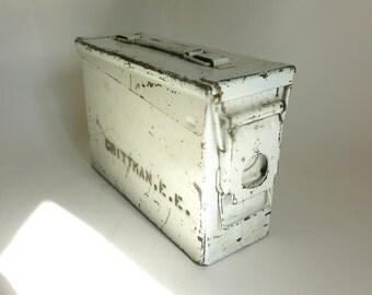 Vintage Metal U.S. Army Ammunition Box