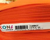 "Kona Solid ""Carrot"" Yardage, Robert Kaufman Fabric, Quilting Fabric, Sewing Fabric, Craft Fabric, Orange Solid Fabric, Premium Cotton Fabric"
